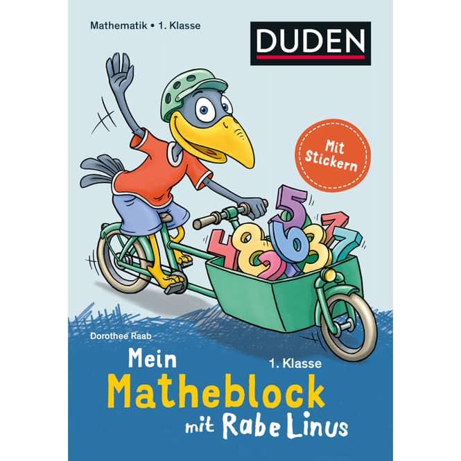 DUDEN - Mein Matheblock mit Rabe Linus - 1.Klasse