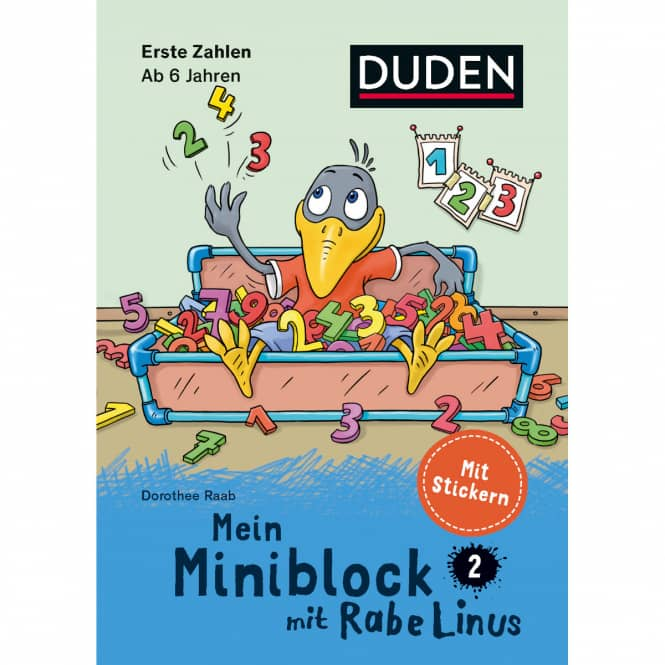 DUDEN - Mein Miniblock mit Rabe Linus - Erste Zahlen ab 6 Jahren