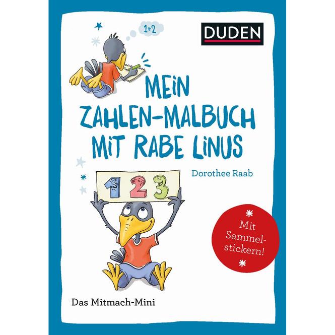 DUDEN - Mein Zahlen-Malbuch mit Rabe Linus