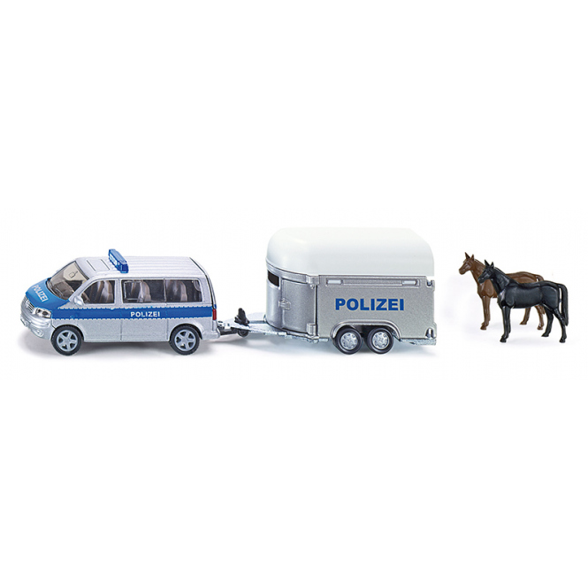 Siku Super 2310 - Polizei-PKW mit Pferdeanhänger - 1:55
