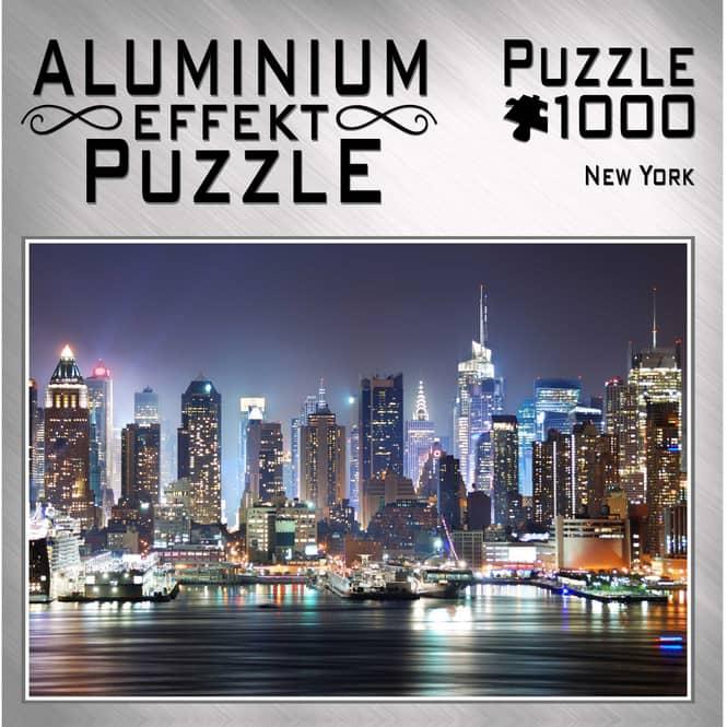 Aluminium Effekt Puzzle - New York - 1000 Teile