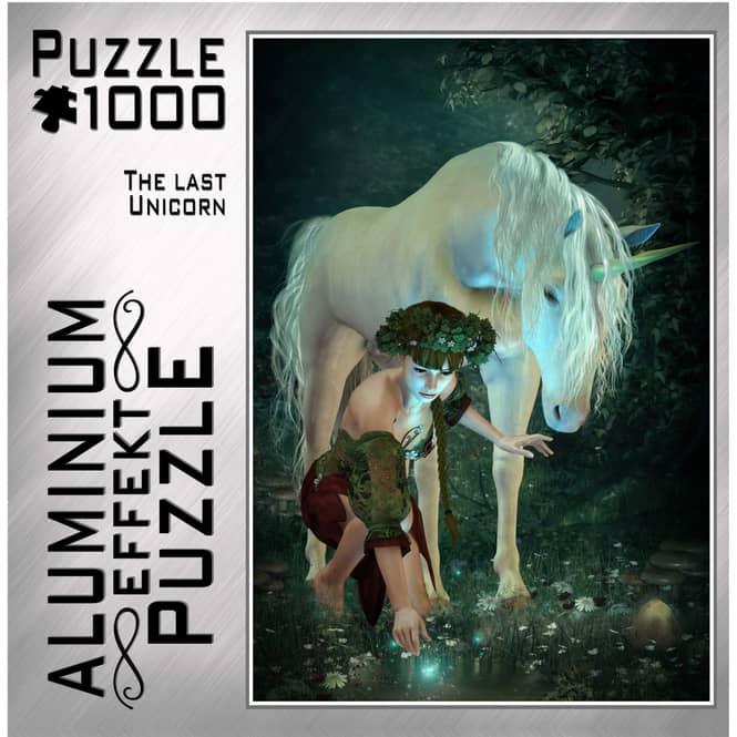 Aluminium Effekt-Puzzle-The Last Unicorn-1000 Teile