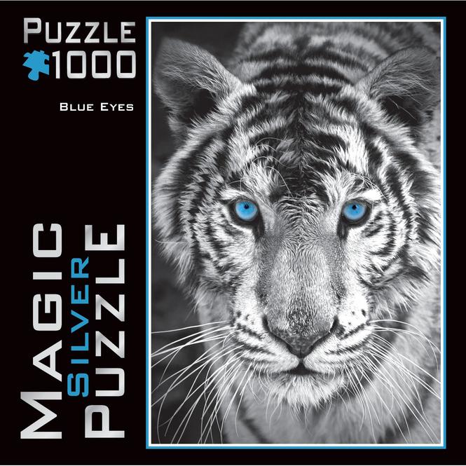 Magic Silver Puzzle - Blue Eyes - 1000 Teile