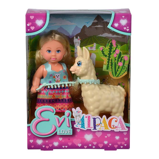 Evi Love - Puppe mit Alpaca
