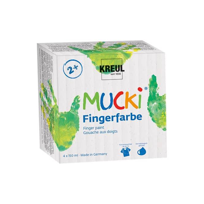 MUCKI Fingerfarbe - 4er Set