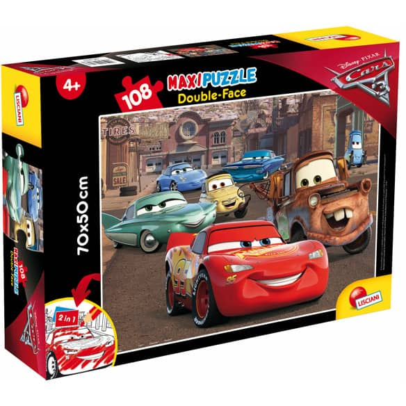 Disney Cars - Maxi Puzzle - Double Face - 2-in-1