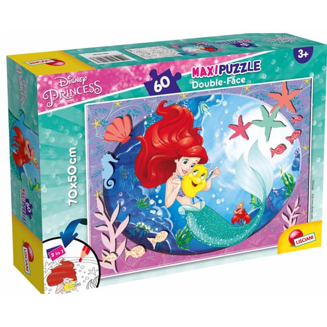 Disney Arielle - Maxi Puzzle - Double Face - 2-in-1