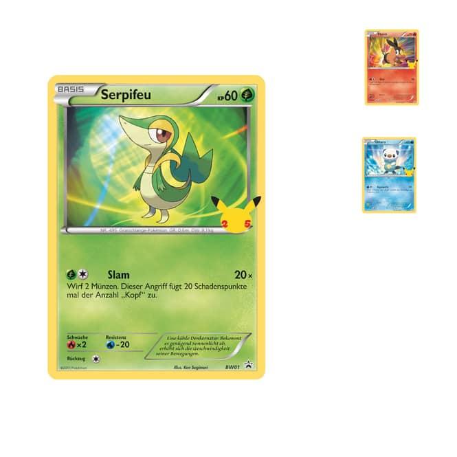 Pokémon - 3 Promokarten  - 25th Anniv Oversized Einall