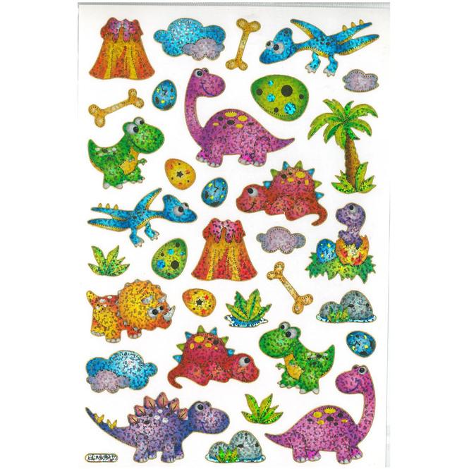 Besttoy - Glitzernde Lasersticker - Dinosaurier