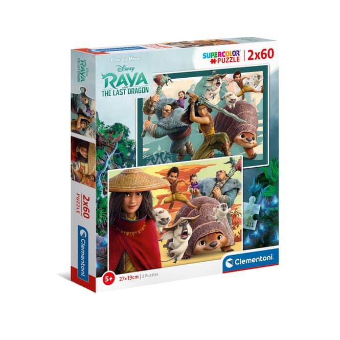 Puzzle - Raya und der letzte Drache - 2 x 60 Teile