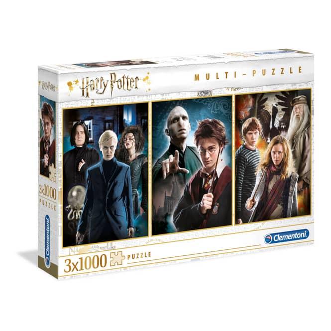 Multi-Puzzle - Harry Potter - 3 x 1000 Teile