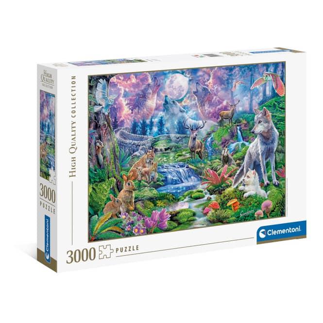 Puzzle - Waldtiere im Mondschein - 3000 Teile
