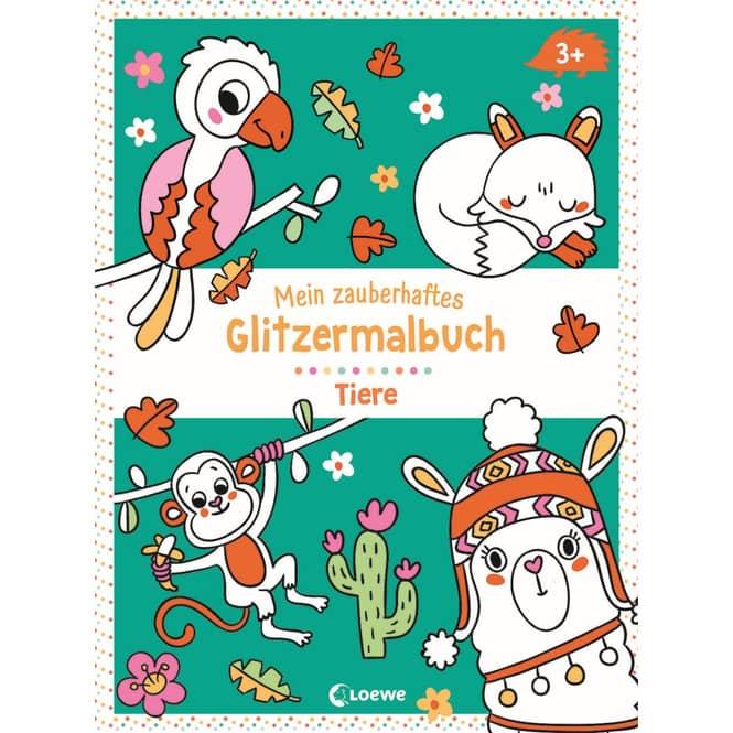 Mein zauberhaftes Glitzermalbuch - Tiere