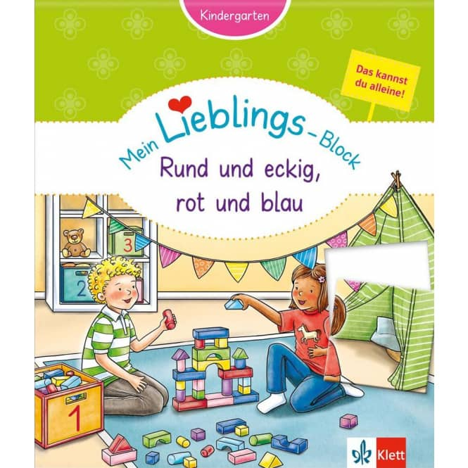 Mein Lieblings-Block -Rund und eckig, rot und blau