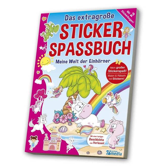 Mein extragroßes Sticker Spassbuch - Meine Welt der Einhörner