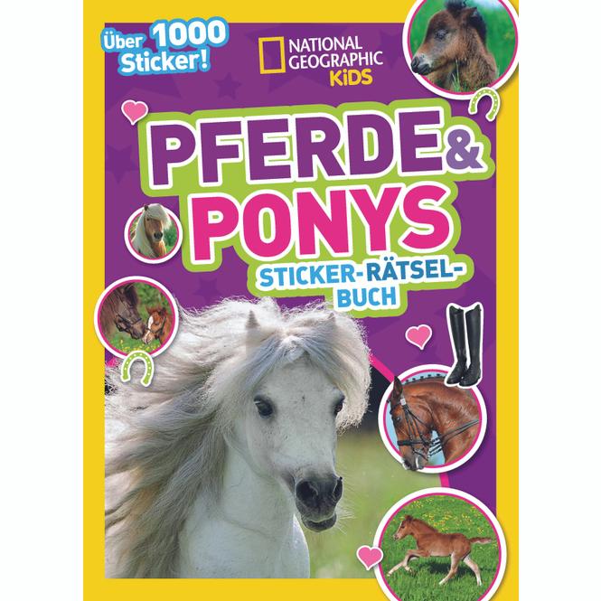 Sticker-Rätsel-Buch - Pferde & Ponys