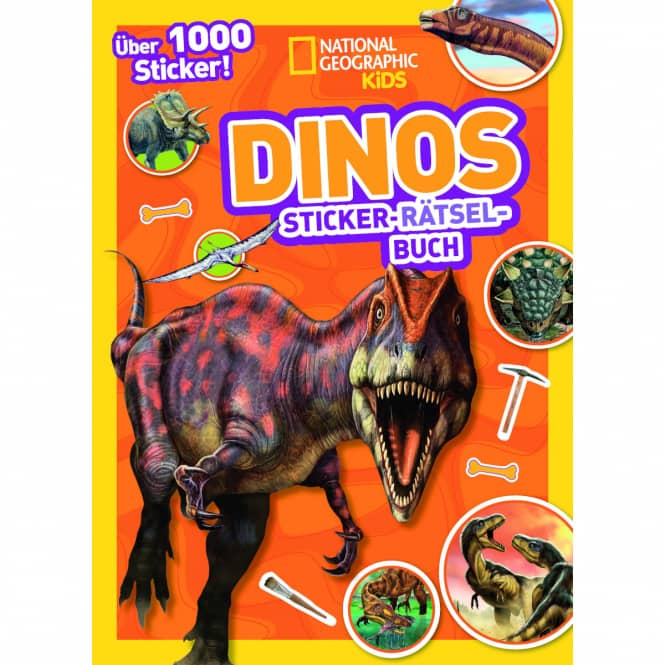 Sticker-Rätsel-Buch - Dinos