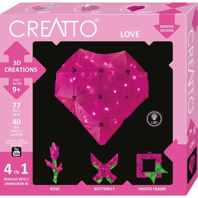 CREATTO - Love  - 3D Puzzle mit LED-Lichtern