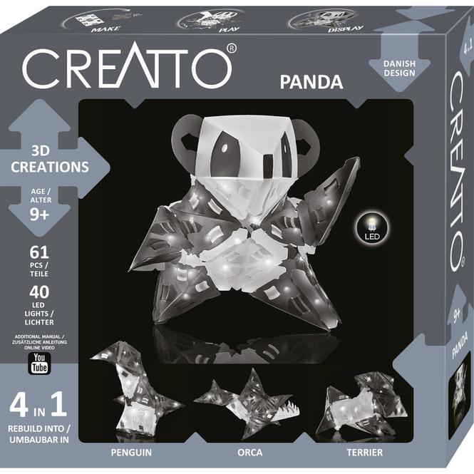 CREATTO - Panda - 3D Puzzle mit LED-Lichtern