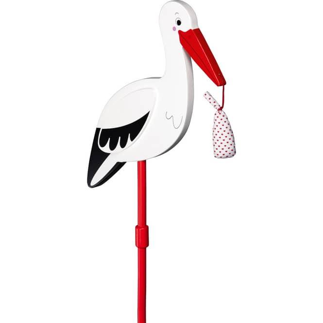 Pflanzstecker - Storch mit Babytuch