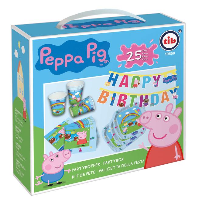 Peppa Pig - Partykoffer - 25-teilig