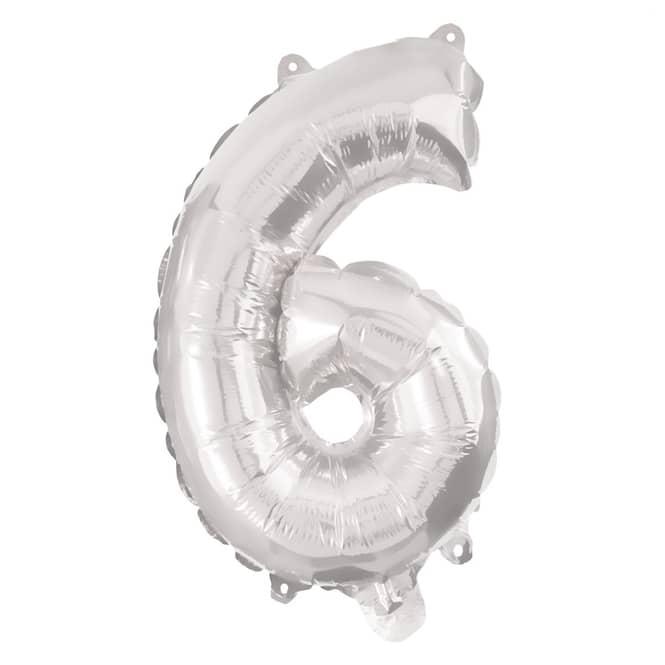 Folienballon - Kleine Zahl - 6 - sechs