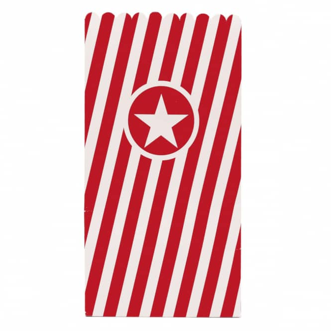 Popcorntüten - ca. 25 x 14 x 14 cm - 6 Stück