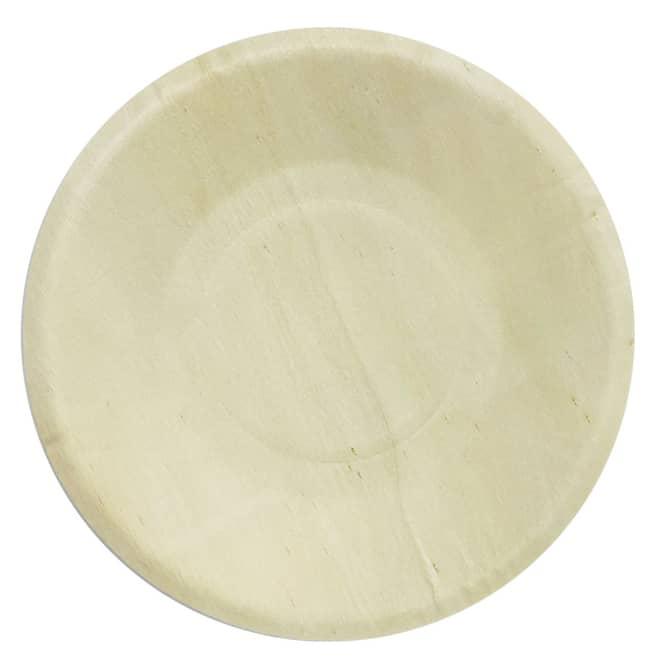 4 Teller - aus Holz - Ø = ca. 19 cm