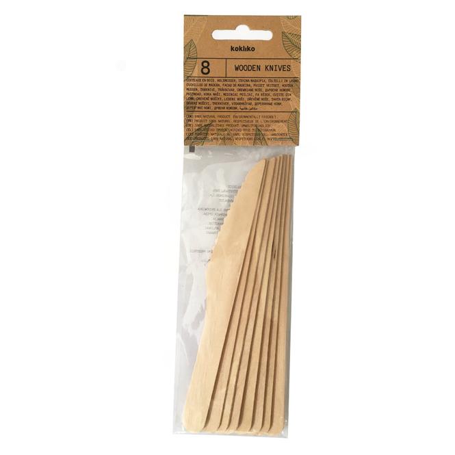 8 Messer - aus Holz - ca. 16,5 x 2 cm