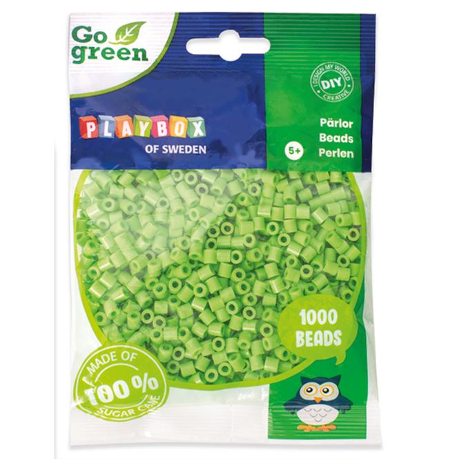 Bügelperlen Go Green - hellgrün