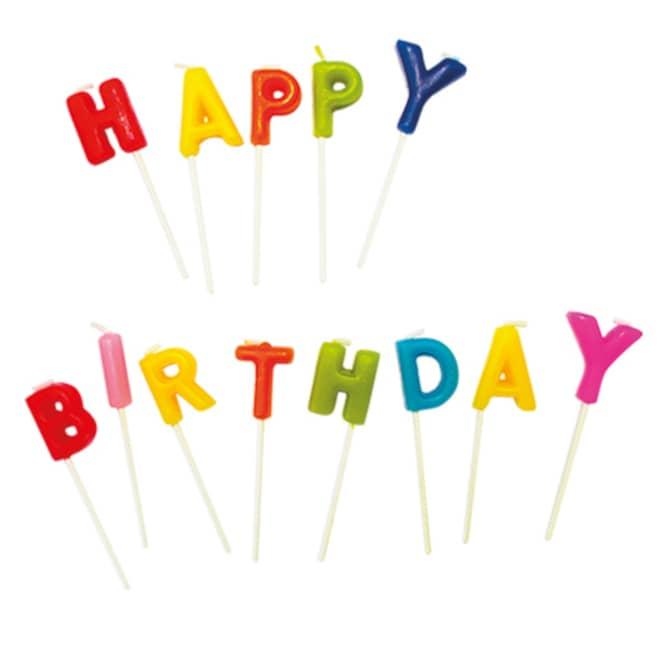 Kerzenset - Happy birthday - 13-teilig