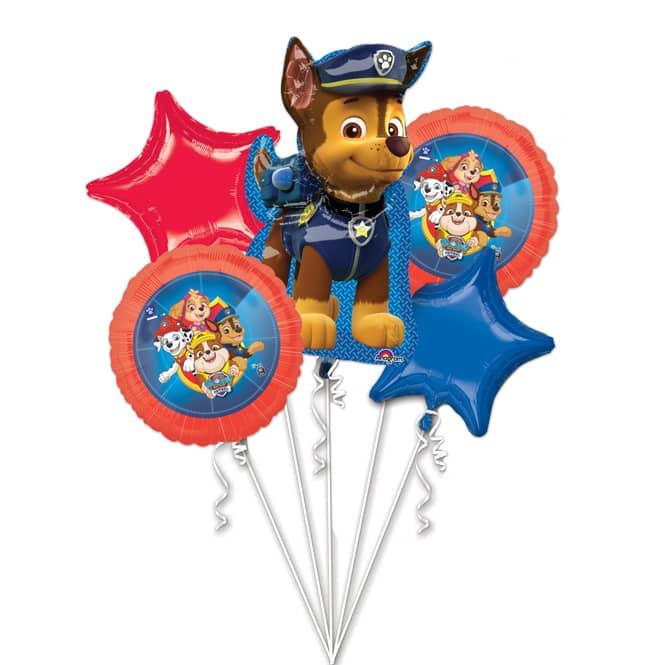 Paw Patrol - Folienballon-Set Chase - 5 Stück