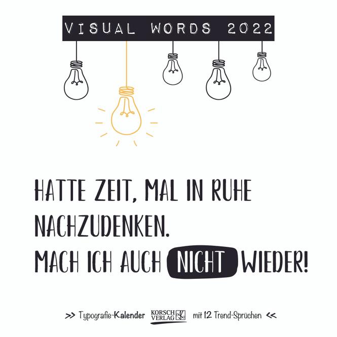 Kalender - Visual Words 2022