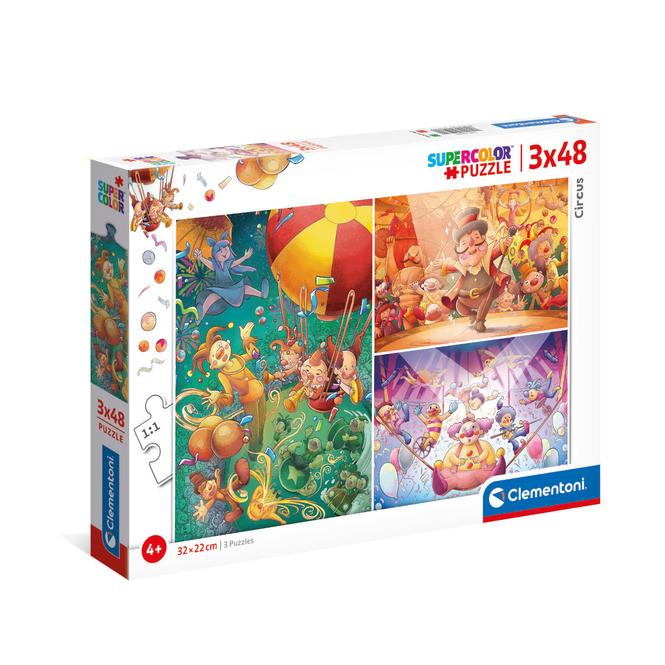 Puzzle - Der Zirkus - 3 x 48 Teile - Supercolor