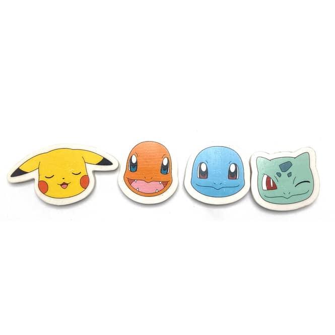 Pokémon - Radierer - 4 Stück
