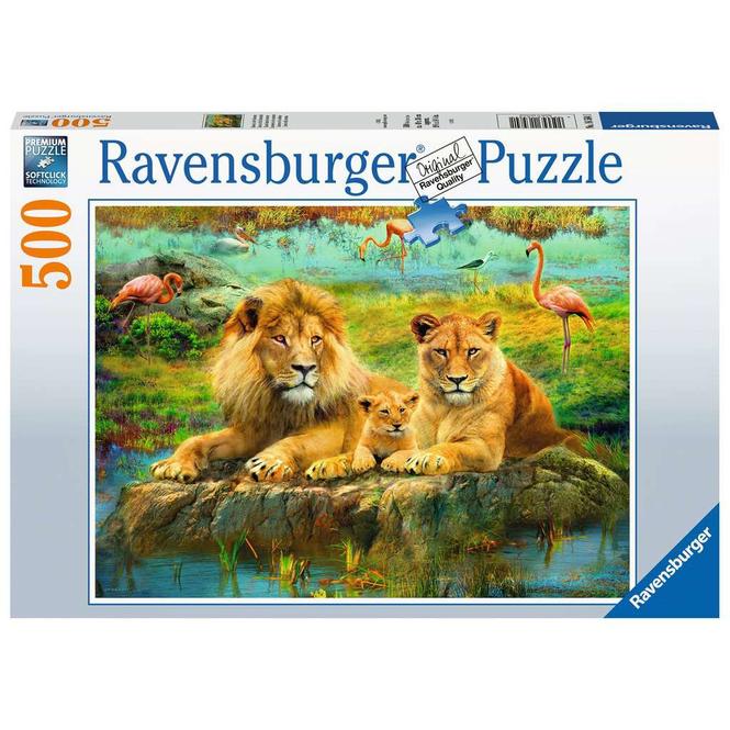 Puzzle - Löwen in der Savanne - 500 Teile