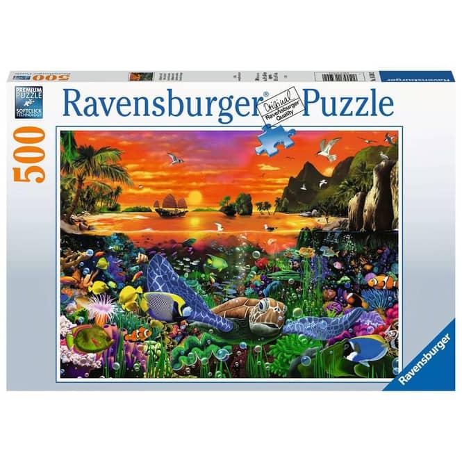 Puzzle - Schildkröte im Riff - 500 Teile