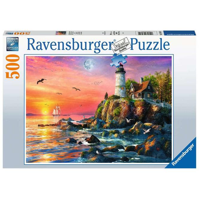 Puzzle - Leuchtturm am Abend - 500 Teile