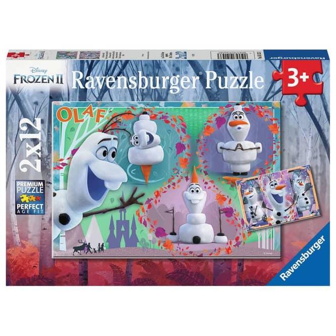 Puzzle - Frozen 2 - Alle lieben Olaf - 2x12 Teile - Ravensburger