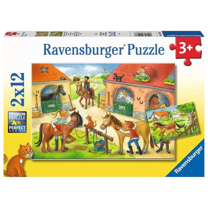 Puzzleset - Ferien auf dem Pferdehof - 2 x 12 Teile
