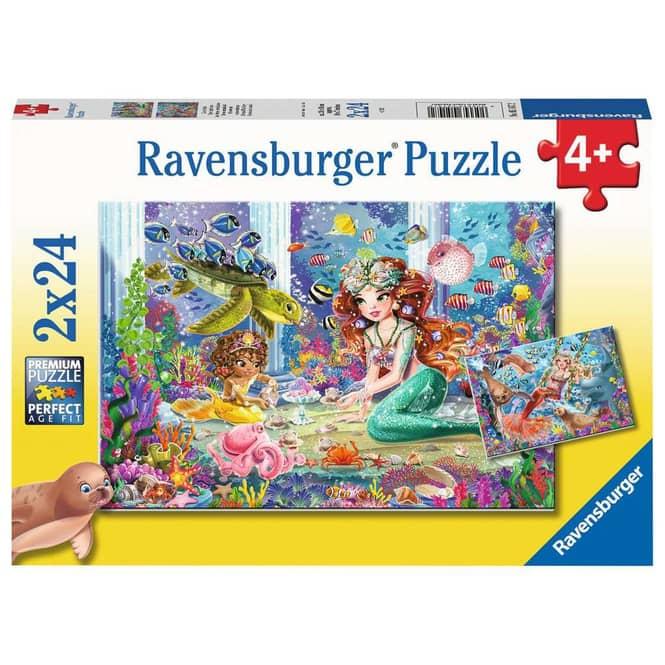 Puzzleset - Zauberhafte Meerjungfrauen - 2 x 24 Teile