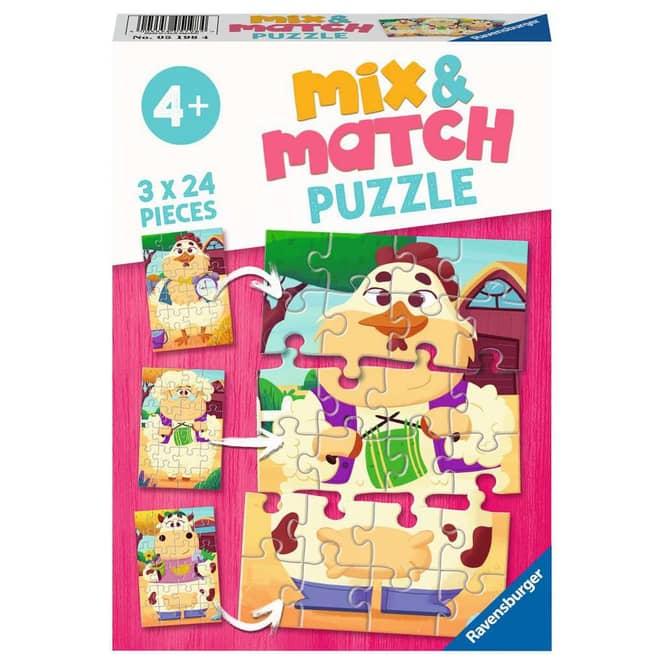 Mix & Match Puzzle - Meine Bauernhoffreunde - 3 x 24 Teile
