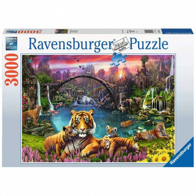 Puzzle - Tiger in paradisischer Lagune - 3000 Teile