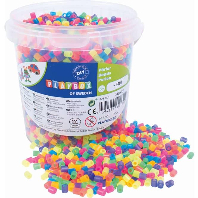 Bügelperlen - 5000 Perlen - neon