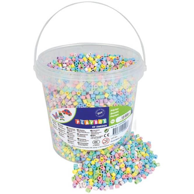 Bügelperlen - 10000 Perlen - pastell