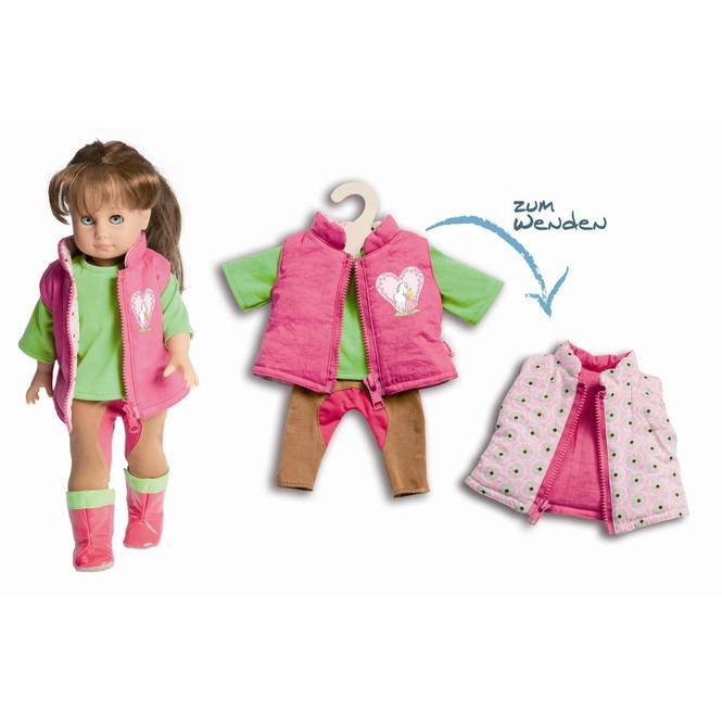 Puppen Reiteroutfit - 3 Teile - Größe 35 bis 45 cm