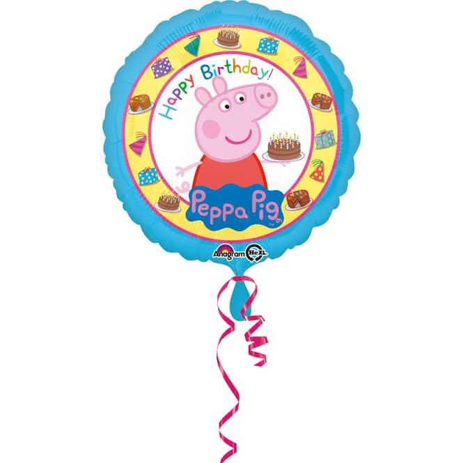 Peppa Wutz - Folienballon - Happy Birthday