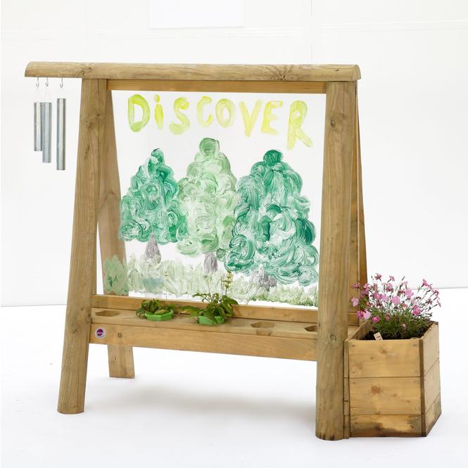 Plum - Discovery Holz-Tafel zum Malen und Bepflanzen - ca. 25 x 143 x 40 cm