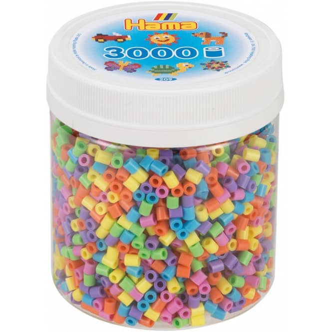 Hama - Bügelperlen - 3000 Perlen - Pastell