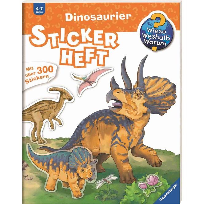 Dinosaurier Stickerheft - Wieso Weshalb Warum
